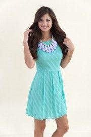 EVERLY:Step By Step Dress-Mint