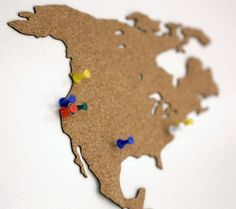 Cork World Map - Laser Cutting Cork #decoration #organization