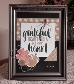 Stampin' & Scrappin' with Stasia: Fall Home Decor