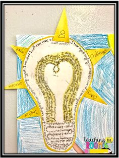 5th graders wrote I Am poems about growth mindset.