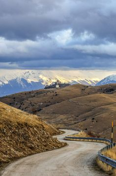 Driving through Abruzzo: the view, the Nature and the Castle of Rocca Calascio... a different life! Here, further info: http://blog.abruzzoupndown.com/2011/06/rocca-calascio-history-town-and.html