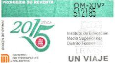 El 20 de enero, el Sistema de Transporte Colectivo emitió un tiraje especial de boletos, para conmemorar 15 años del Instituto de Educación Media Superior del Distrito Federal.