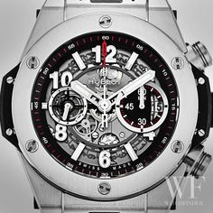 The #Hublot Big Bang gets skinny with the skeletonised dial of the Unico Titanium.