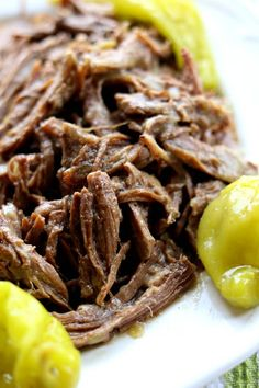 Instant Pot Mississippi Roast (no packets)--with just a handful of ingredients and an hour in the instant pot you can make the best roast of your life. This particular recipe has no packets of ranch or au jus like the original recipe calls for. It's perfect served with mashed potatoes or on a crusty roll as a sandwich.