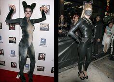 15 Celebrities Wearing the Same Costume: Heidi Klum vs. Doutzen Kroes as a Cat.