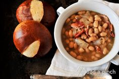 quick white bean soup with bacon