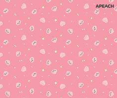 Apeach Kakao, Kakao Friends, Kawaii Stickers, Cute Cartoon Wallpapers, Homescreen, Character Design, Backgrounds, Illustration, Korean
