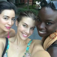 The beautiful Walking Dead ladies!!!