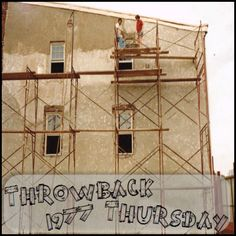 Owner, Jerry Guzzo with his brother, Matthew Frank Guzzo Guzzo applying #Stucco to a #Business in #Philadelphia in #1977!  #GuzzoStucco #ThrowbackThursday #TBT #Owner #Brother #Stucco #Masonry #Concrete #1977