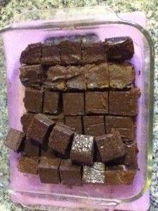 3 minutes, microwave chocolate fudge