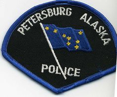 Petersburg-Police-Alaska-old-rare-Ak-patch-from-old-collection-1980s