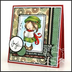Joy to the World, handmade card by @Donna Wardle