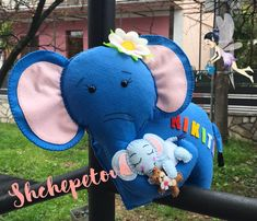 Felt toy elephant (baby shower) for decorating (personalized baby gift, birth elephant, baby shower gift, baby girl gift, baby boy gift) Make Happy, Elephant Baby, Baby Girl Gifts, Felt Toys, Personalized Baby, My Works, Special Gifts, Wool Felt, Baby Shower Gifts
