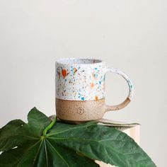 Sprinkled ceramic mugs by @willowvane fusing art and product. #abstract #design #art #graphicdesign #ceramic #mug #instaart