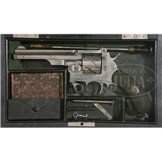 EXTREMELY RARE CASED PRESENTATION MAUSER MODEL 1878 ZIGZAG SINGLE ACTION REVOLVER.