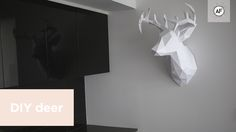 My thumb may still be numb from cutting this out but my goodness was it  worth it! Say hello to my newest friend. Just in time for the Christmas  holidays this 3D paper reindeer head is bound to wow your guests! Hang it  for the holidays or all year round.. this sculpture is modern, edgy  (liter