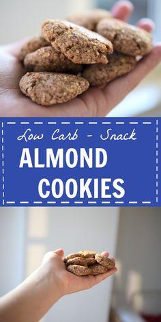 Salzige Mandel-Kekse (Low Carb) für unterwegs oder als kleiner, gesunder Snack zwischendurch. Ein leckeres, kohlenhydratarmes Rezept für Kekse ohne Kohlenhydrate.  Lass es dir schmecken!