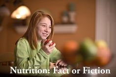 Debunk the myths of nutrition. Find out what is fact and what is fiction