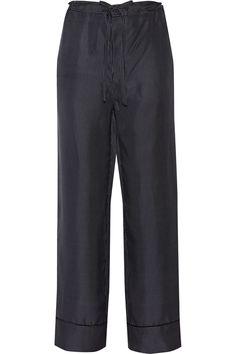 RAG & BONE Gabrielle Polka-Dot Silk-Twill Wide-Leg Pants. #ragbone #cloth #pants