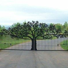 Custom Entry Gate for Ole Plantation custom made by Ornametals And Finer Welding. Custom Entry Gate for Ole Plantation custom made by Ornametals And Finer Welding, Inc. - If you're searching for inn Metal Gates, Wrought Iron Gates, Metal Garden Gates, Metal Fence, Garden Fencing, Front Gates, Entrance Gates, Entrance Ideas, House Entrance
