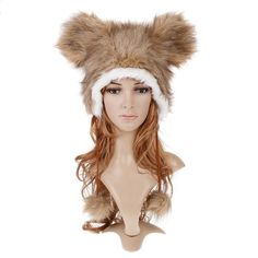 Cartoon Animal Brown Mickey Mouse Hat Plush Winter Warm Party Cute Cap Hat, A2741 Dropshipping, on AliExpress.com. $6.99