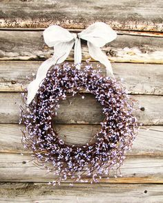 Pretty :) LILAC LAVENDER Berry Wreath Shabby Cottage Chic by WildRidgeDesign, $55.00