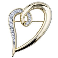 Pugster Golden Crystal Open Heart Brooches And Pins Pugster. $17.76. Money-back Satisfaction Guarantee.. Occasion: casual wear,anniversary, bridal, cocktail party, wedding. Can be pinned on your gown or fastened in your hair with bobby pins.. One free elegant cushioned Gift box available with every order from Pugster.. Exquisitely detailed designer style with Swarovski cystal element.