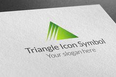 Triangle Icon Symbol Logo by BDThemes Ltd on Creative Market