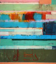 Chris  Gwaltney - Chris Gwaltney at Seager Gray Gallery showing Postcard from London an abstract oil painting