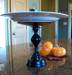 Cleverlyinspired: Goodwill finds= fabulous Cheese plate pedestal !