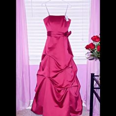 Gorgeous Pink Prom Dress Size 8 by David's Bridal David's Bridal Bridesmaid/Ball Gown Women's Size 8. This gorgeous dress is in excellent condition! No stains! No tear! Smoke and pet free environment! David's Bridal Dresses