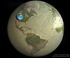APOD·cat » Tota l'aigua de la Terra