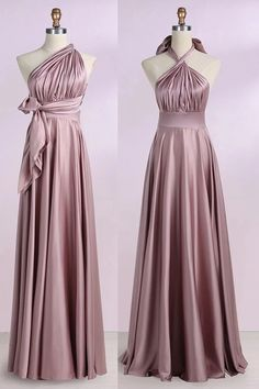 Blush Convertible Prom Bridesmaid Dress, Cheap Floor Length Bridesmaid Dresses This dress could be custom made, there are no extra cost to do custom size and color. Split Prom Dresses, Burgundy Homecoming Dresses, Cheap Bridesmaid Dresses, Wedding Party Dresses, Bridesmaids, Long Dresses, White Ball Gowns, Maid Of Honour Dresses, The Dress