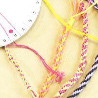 Bracelets japonais kumihimo avec un mudai, disque à tresser, à imprimer TUTO et PDF