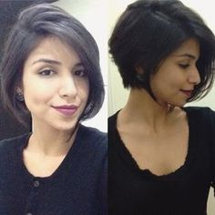 Bob haircuts are perfect for those who have fine hair, just add layers will make the hair appear thicker look. There are many different types of bob haircuts for fine hair. They combine bob haircut… Cute Bob Haircuts, Haircuts For Fine Hair, Short Bob Hairstyles, Hairstyles Haircuts, Thin Hair Bob Haircut, Bobs For Thin Hair, Corte Y Color, Love Hair, Mi Long