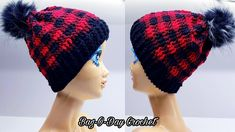 66d4fa60a36f7c How To Crochet A Unisex Beanie Hat   Plaid is the New Black   Bag O Day Crochet  Tutorial #551