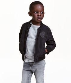 Padded Bomber Jacket | Black | Kids | H&M US