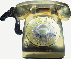 Elvis' gold bedside phone at Graceland