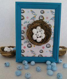 Mama's CribA handmade bird egg nest framed by ThePinkElephantShopp