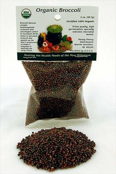 Organic Broccoli Sprouting Seeds - 2 Oz -Handy Pantry Brand - Edible Seed, Gardening, Hydroponics, Growing Salad Sprout & Food Storage- Brocolli Sprouts Contain Sulforaphane - http://goodvibeorganics.com/organic-broccoli-sprouting-seeds-2-oz-handy-pantry-brand-edible-seed-gardening-hydroponics-growing-salad-sprout-food-storage-brocolli-sprouts-contain-sulforaphane/