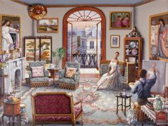 ART~ Having Her Portrait Painted~ John O'Brien