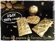 DIY 100% récup : les bricolages avec des papiers de Ferrero