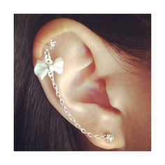 Cute Ear Piercing Ideas ❤ liked on Polyvore featuring earrings, jewelry, piercings, accessories and pictures