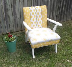 1970's retro australian made , channel back chair.