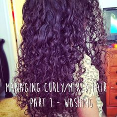 How to manage and take care of curly hair. Learn how to properly wash curly/mixed hair without over drying the hair and how to condition the hair to keep hair moisturized. Detangle knotty hair like a pro! Great for moms with mixed kids with curly hair.  http://www.hellocrisst.com/2014/04/managing-curlymixed-hair-part-1-washing.html