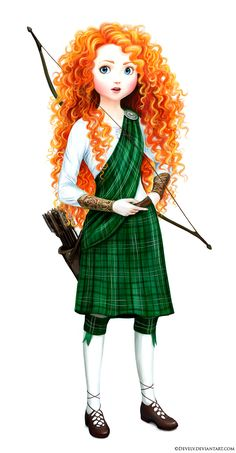 Merida in full Scottish gear! Minus a hat... which probably wouldn't fit anyway. :P