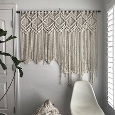Large Macrame Wall Hanging Pattern Pattern Name - 7 Diamonds Buy 4 DIY Macrame Patterns and get one $4.99 pattern free using Coupon Code: Macrame This is a digital download pattern/DIY for a Macrame Wall Hanging that I designed. It list the materials needed as well as a written