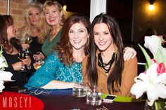 """Cynthia Smoot of Oh So Cynthia with Courtney Kerr from Bravo TV's Most Eligible Dallas at Mockingbird Station's """"What To Wear"""" fashion show and event."""