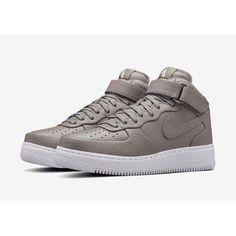 Купить кроссовки Nike Air Force Premium Leather серые унисекс в интернет  магазине Insupreme fe17c2755fe