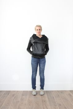 How to sew a leather jacket - Miranda from One Little Minute